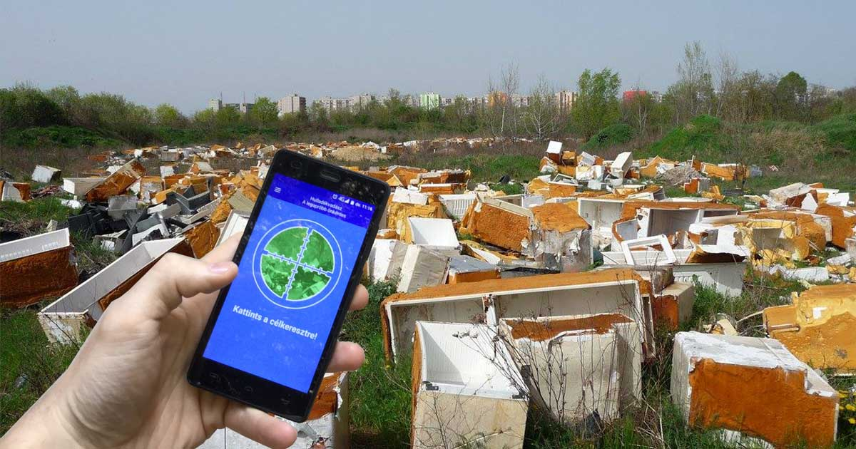 Az illegális hulladéklerakások feltérképezésére kifejlesztett Hulladékvadász Applikáció már 2016 óta elérhető a Google Áruházban.