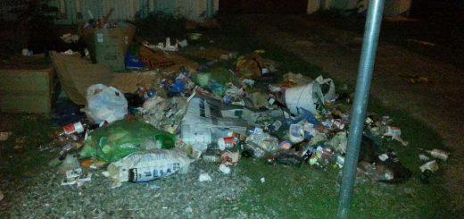 Fáklya utca áthelyezett szelektív hulladékszigete