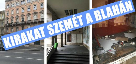 Blaha Lujza tér illegális hulladék kirakata