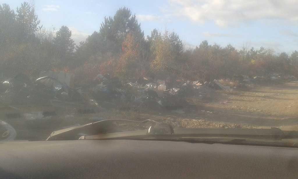 A Tárnok Öreghegy helyszínéről november elején érkezett bejelentésből származó képi anyag. / Fotó: hulladekvadasz.hu