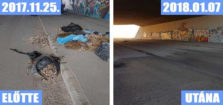 Székesfehérvári elkerülő alatt hulladék kirakodóvásár (Frissítve)