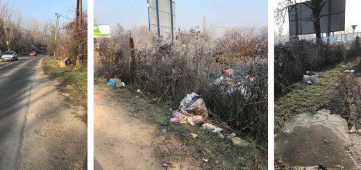 Ország út hulladékkupacai Budakalász és Budapest határán