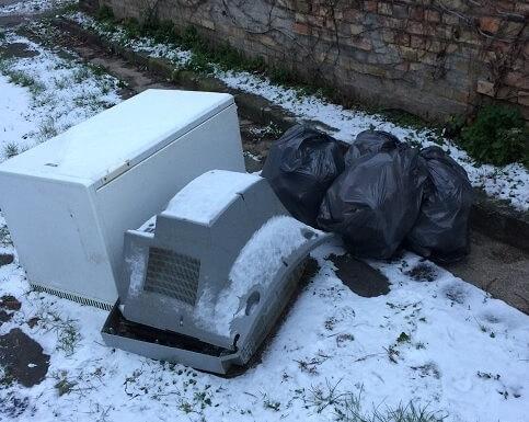 Rózsabimbó utca elektronikai hulladéka