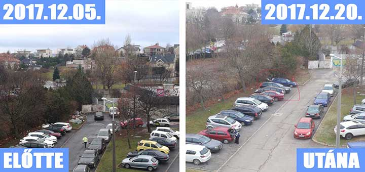 Gazdagrét gaz szemetelő autósai a Nagyszeben téren (Frissítve)