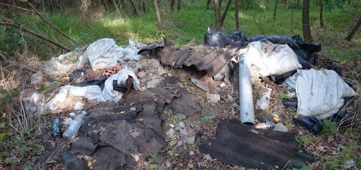 Merzse-mocsár mentén illegális sittkupac