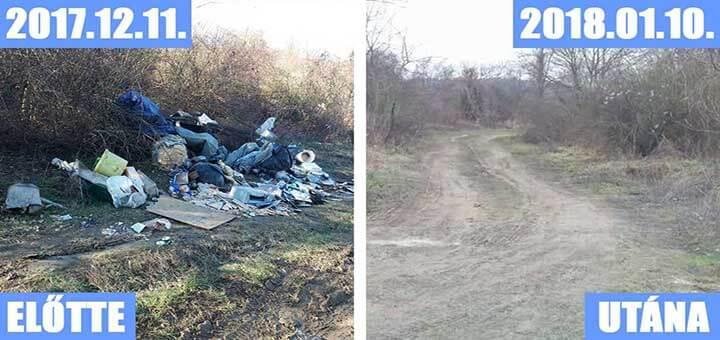 Pilismaróti illegál hulladékparti a domboldalon