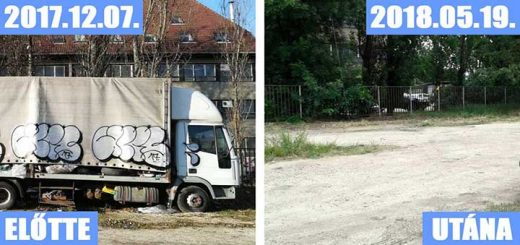 Zuglói Füredi út kifosztott, összefújt, na és teleszemetelt teherautója