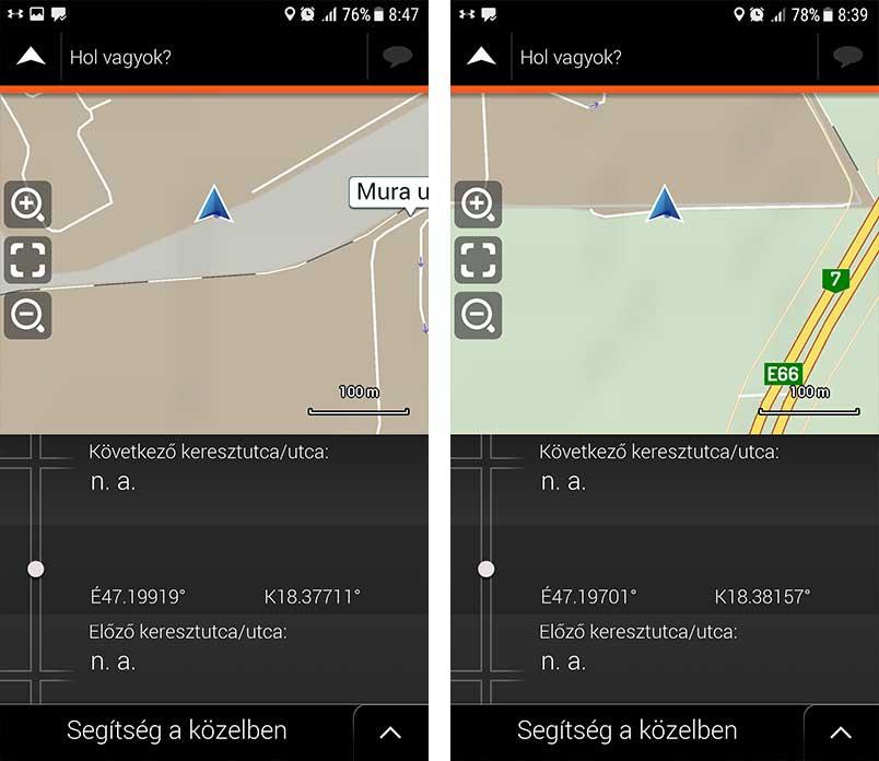 Bal oldali képen az 2-es helyszín, a Mura utca utalható. / A jobb oldali képen a Vég utca 1. helyszín.