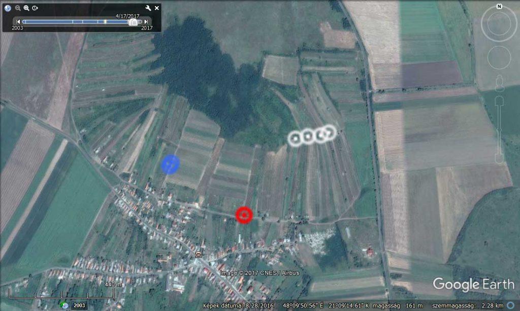 Az illegális hulladéklerakatok pontos helyei a bejelentő által jelölt térképen. / Fotó: Google Maps