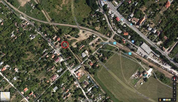 A helyszín a bejelentő által jelzet piros körnél található. / Fotó: Google Maps