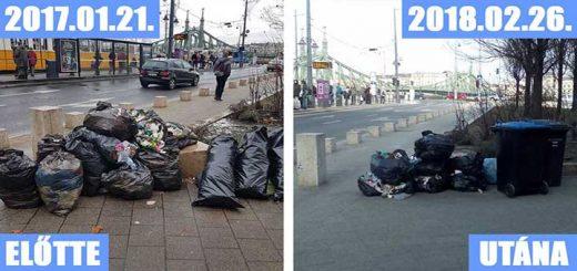 Szent Gellért tér hetek óta cseperedő hulladékhalma