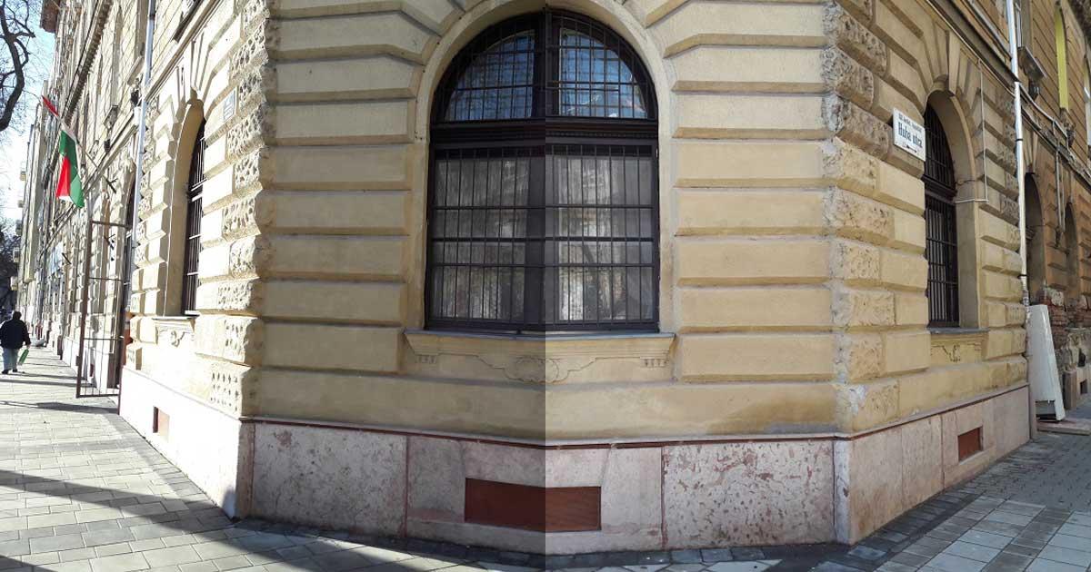 A Huba és Rózsafa utca sarka. A kép jobb oldalán kikandikál a magára hagyott hűtőszekrény. / Fotó: hulladekvadasz.hu