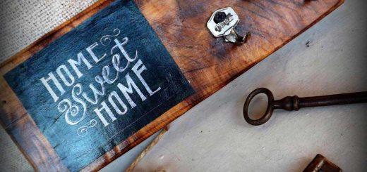 Kulcstartó használt vágódeszkából - #40 DIY