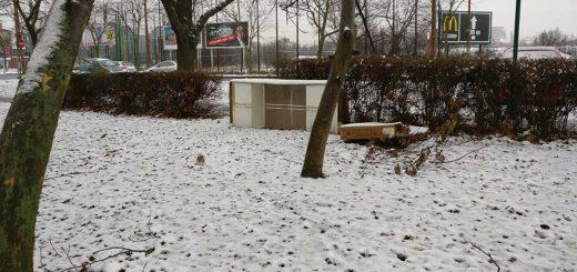 Eldobott szekrény a Róna utca - Egressy út sarkán