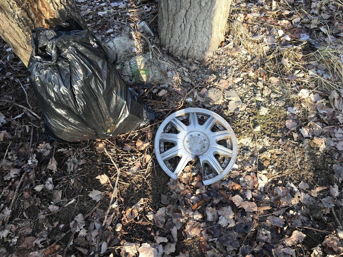 Szinte mindenféle hulladék megtalálható volt az erdőben. / Fotó: hulladekvadasz.hu