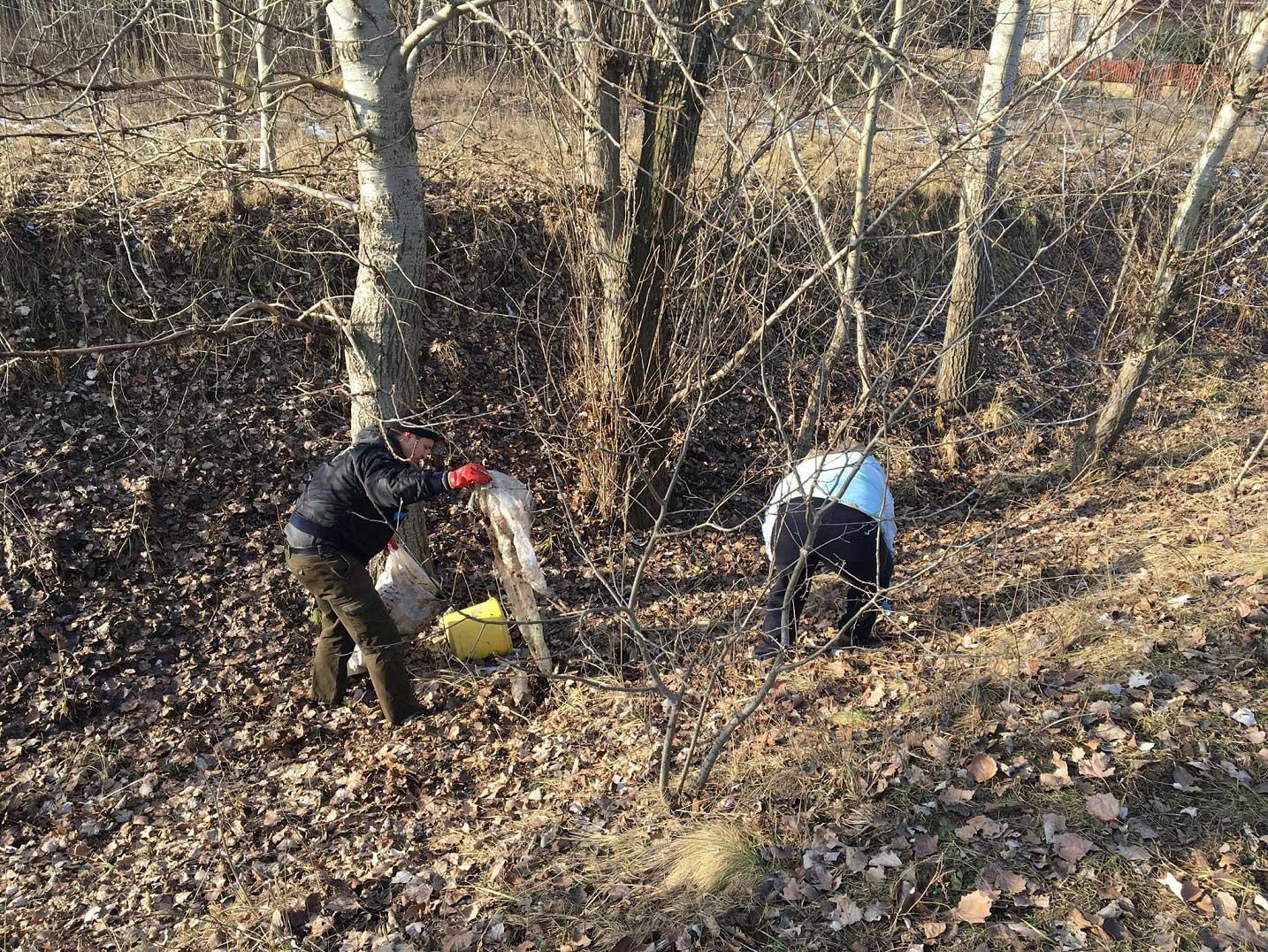 A csipet csapat mindent megtett a terület megtisztításáért. / Fotó: hulladekvadasz.hu