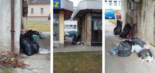 Török Flóris utca bolt mellé helyezett szemét