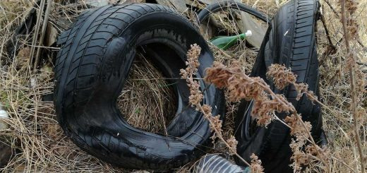Pesti határút földútja melletti hulladéklerakat