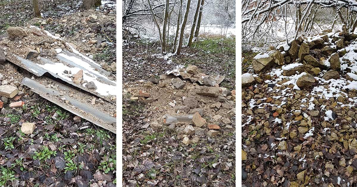 A palalemezek azbeszt tartalmúak, emiatt veszélyes hulladéknak minősülnek. / Fotó: hulladekvadasz.hu