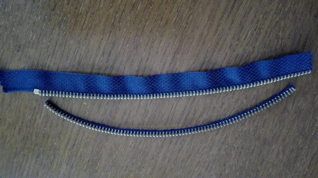 újrahasznosított zipzár