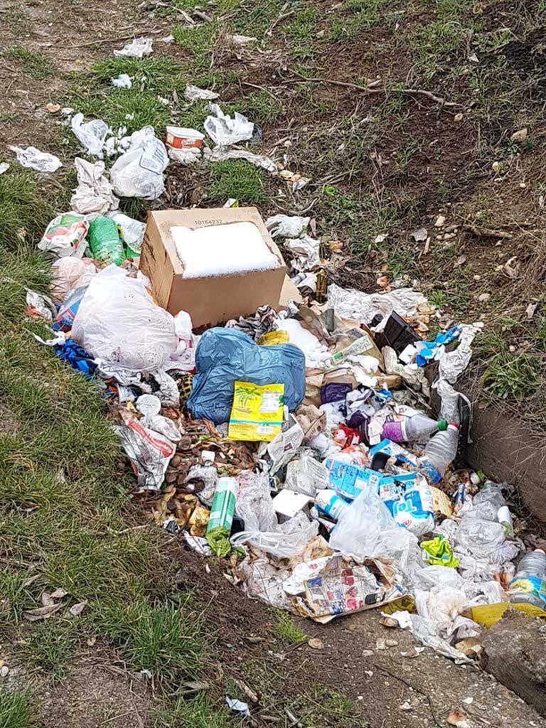 Az árokba hányt hulladék éppen hogy nem szúrja ki az emberek szemét. / Fotó: hulladekvadasz.hu