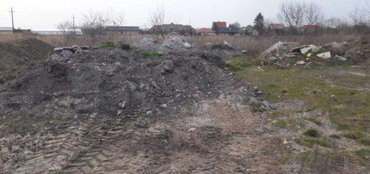 Levendulakert utca építési törmeléke Tatán