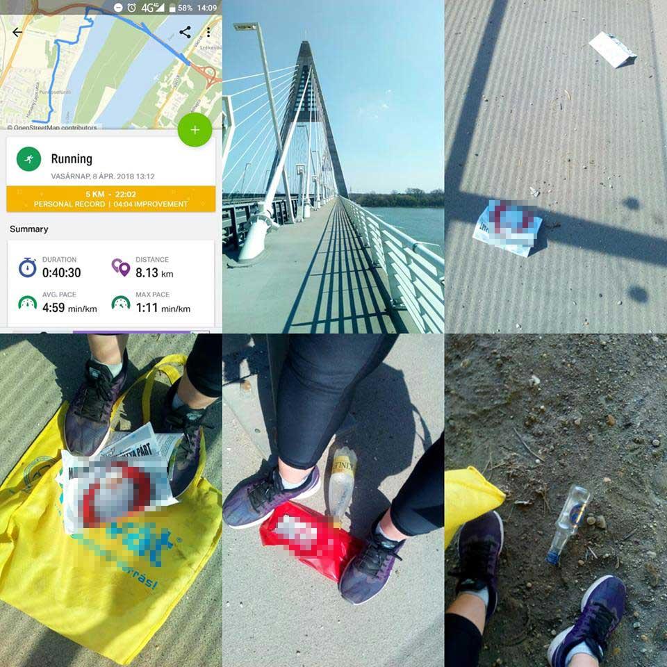 """""""Mai kedvenc hidas futás, szemétszedéssel egybekötve!"""" - írja büszkén a Plogging Hungary csoportban egy plogginger."""