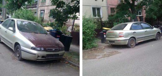 Fiat Brava rohadásra ítélve a zuglói Czobor utcában