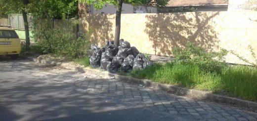 Kisgömb utca építési hulladéka