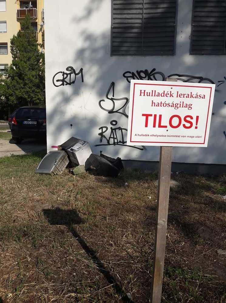 Vajn nem tudnak olvasni a szemetelők, vagy vakok? / Fotó: hulladekvadasz.hu