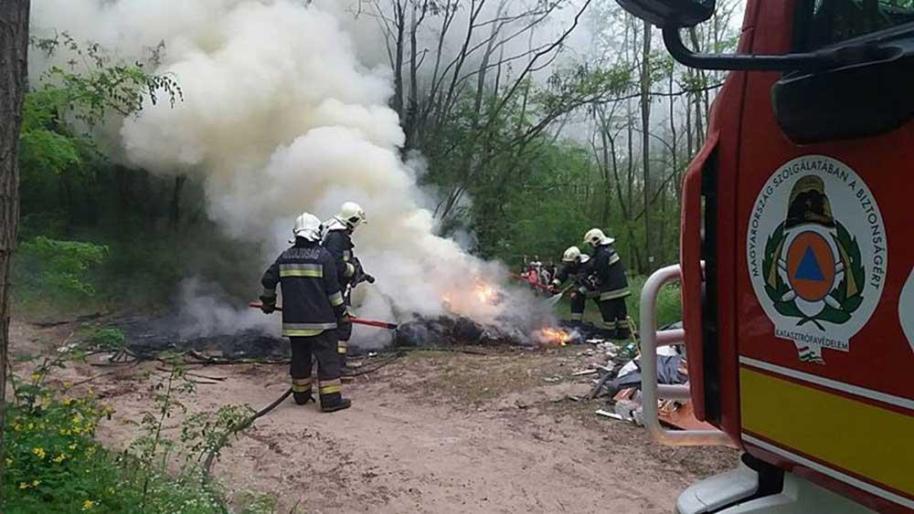 A gödöllői hivatásos tűzoltók munka közben / Fotó: Gödöllői Hivatásos Tűzoltó-parancsnokság