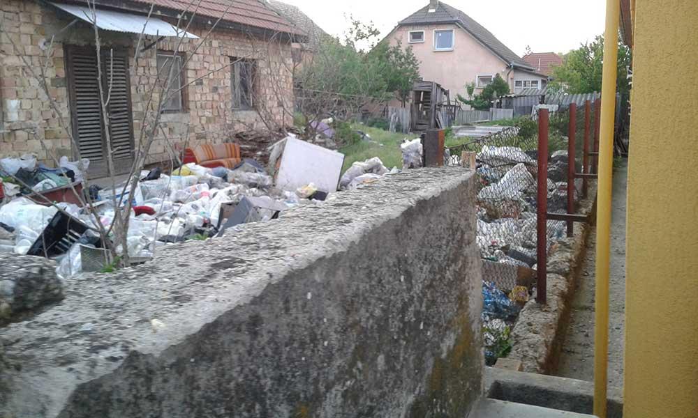Nem lennénk a szomszéd helyében. A szemét bevonzza a patkányokat és a bűzt is. / Fotó: hulladekvadasz.hu