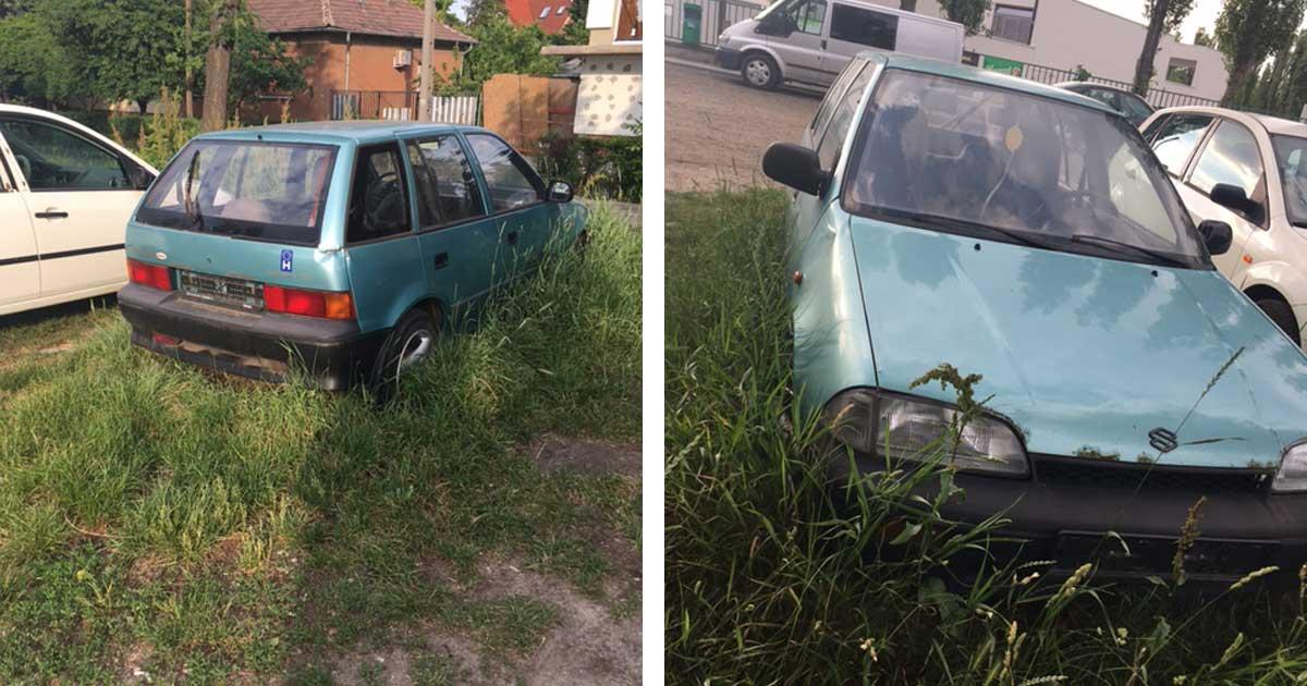 Ez a kis Suzuki is megélt már jobb napokat ... hol a gazdija? / Fotó: hulladekvadasz.hu