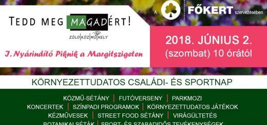 Tedd Meg MAgadért! 2018-ban a Margitszigeten