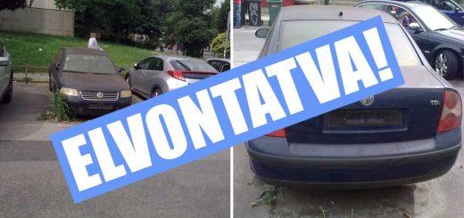 Volkswagen Passat romokban a Francia úton