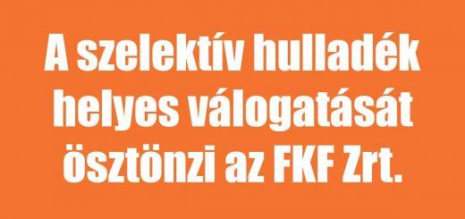 FKF nyereményjátéka a szelektív használat ösztönzésére