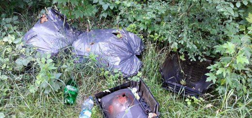 Külső Létai út lehullott hulladéka Debrecenben