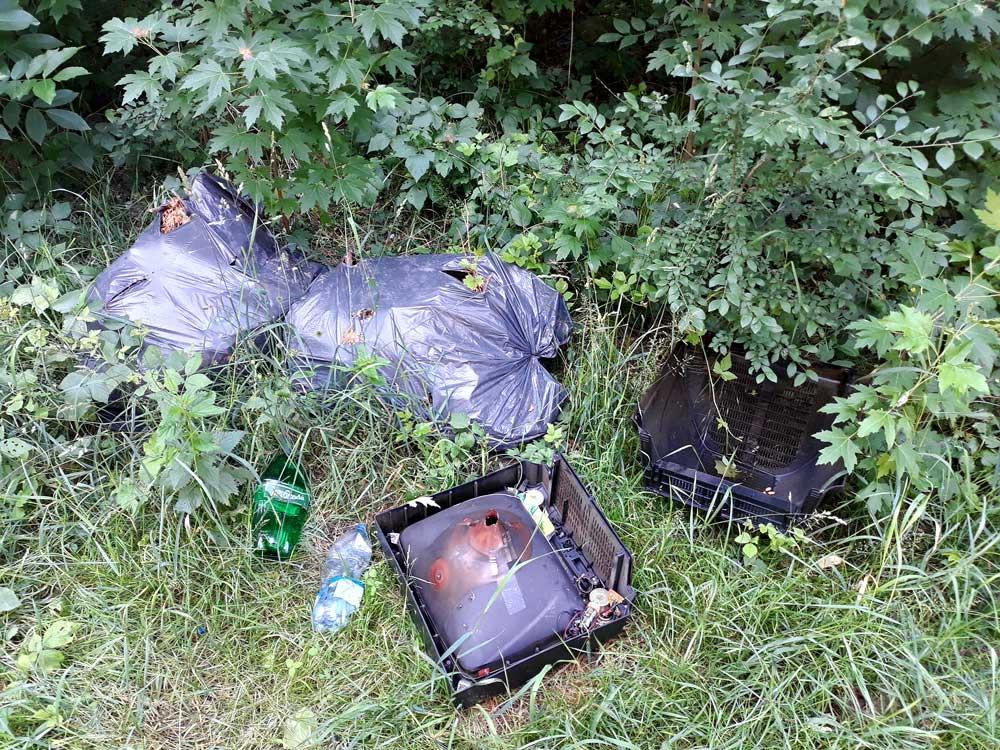 Kibelezett tévé mellett jól elfér más hulladék is. / Fotó: hulladekvadasz.hu