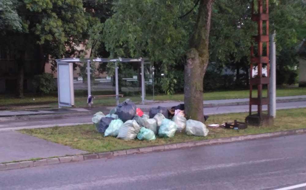 No komment! A pofátlanság határtalan. /  Fotó: hulladekvadasz.hu
