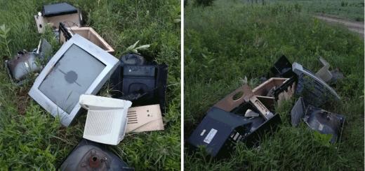 Vadvirág utca elektronikai hulladéka Hévízgyörkön