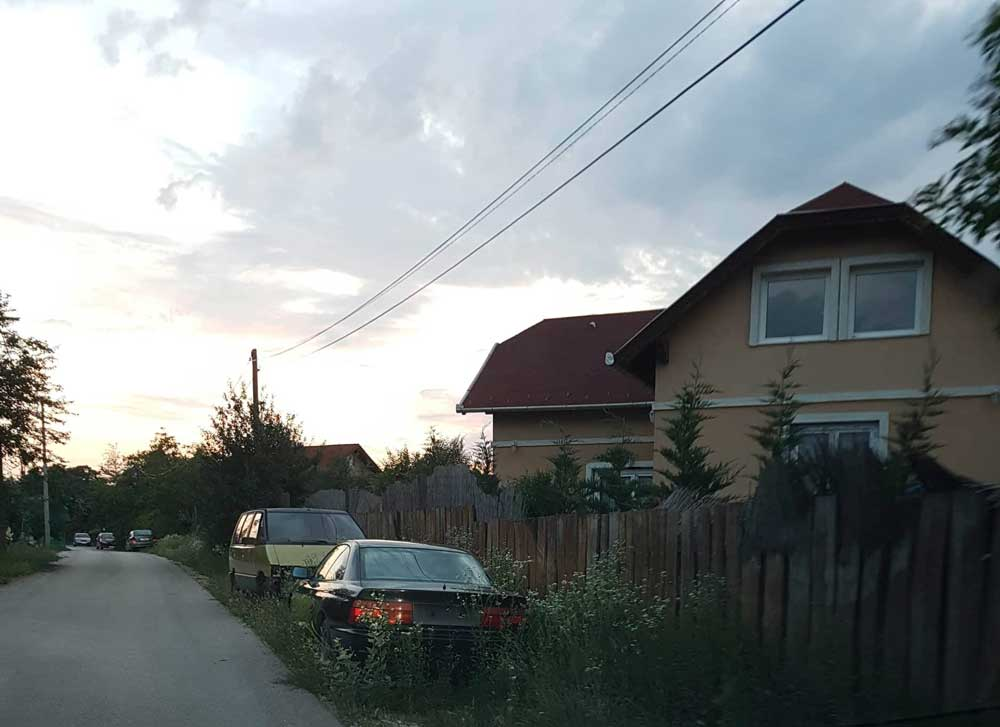 A magas gazban megbújó autóroncsok foglalják a közterületet Diósdon. / Fotó: hulladekvadasz.hu