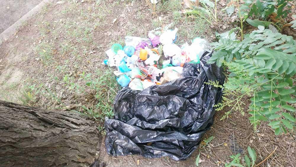 Az út mellé hányt kommunális hulladék. / Fotó: hulladekvadasz.hu