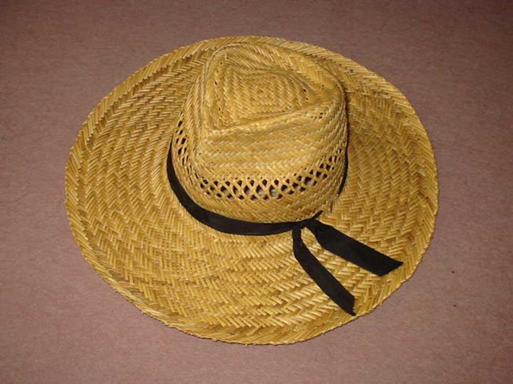 A szalmából készült kalap kiváló nyári viselet. / Fotó: wikipedia.hu