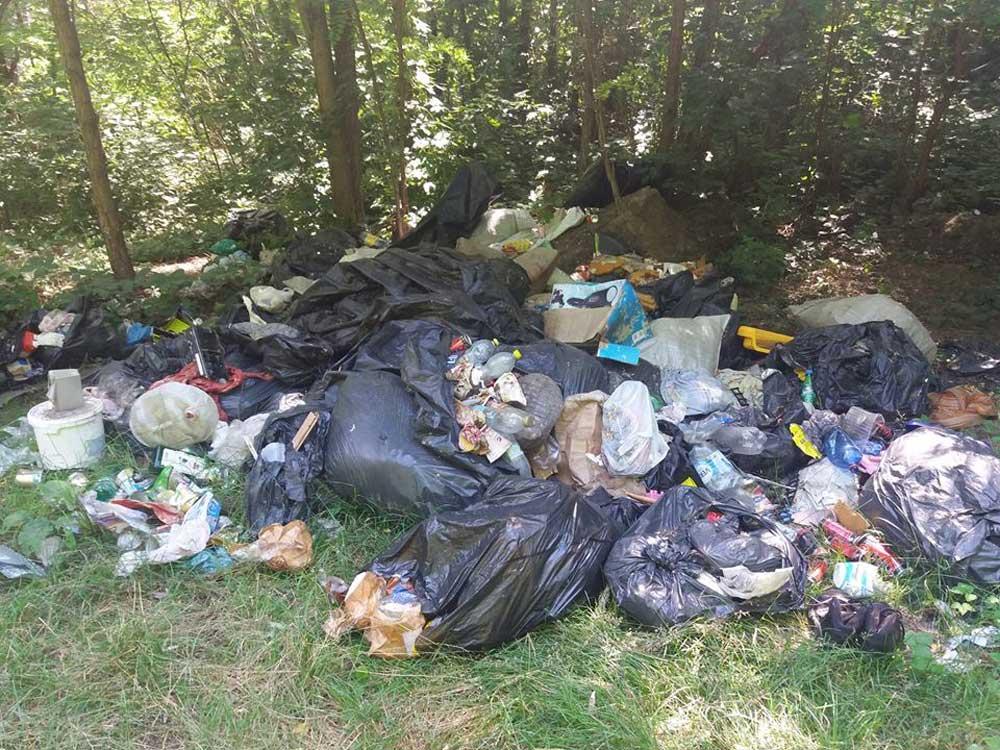 Nem kis mennyiség, legalább egy teherautónyi rakomány kommunális és mindenféle hulladék. / Fotó: hulladekvadasz.hu