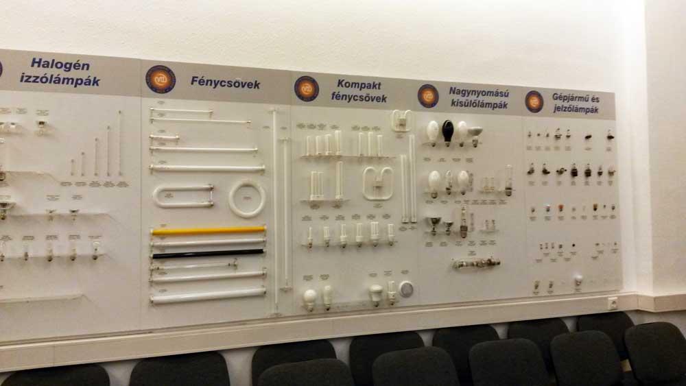 A technológia változatossága a Világítás Házában.