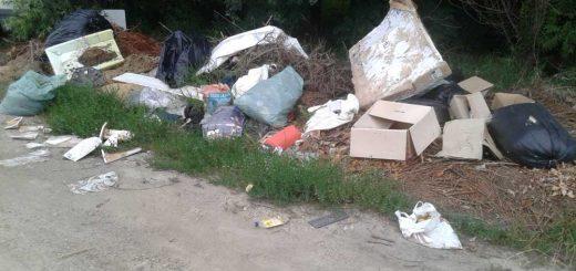 Szilas patak partján hulladéklerakat