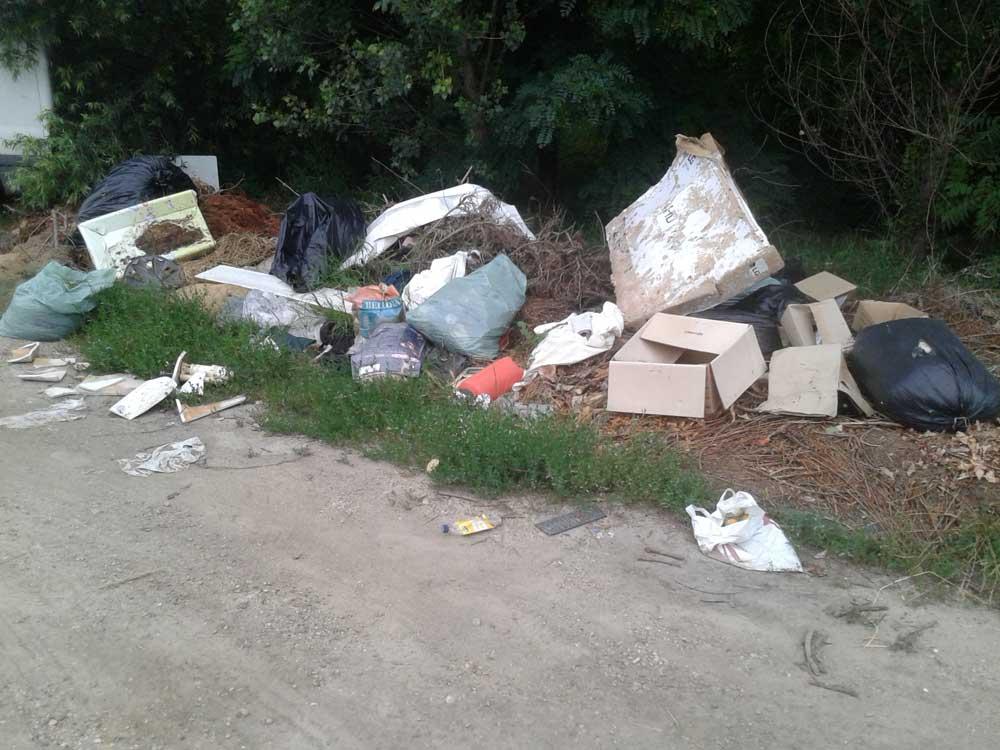 A Szilas patakot is elérte az emberi igénytelenség. / Fotó: hulladekvadasz.hu