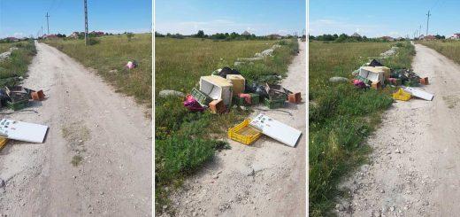 Vereckei utca hulladékhalma, Érden