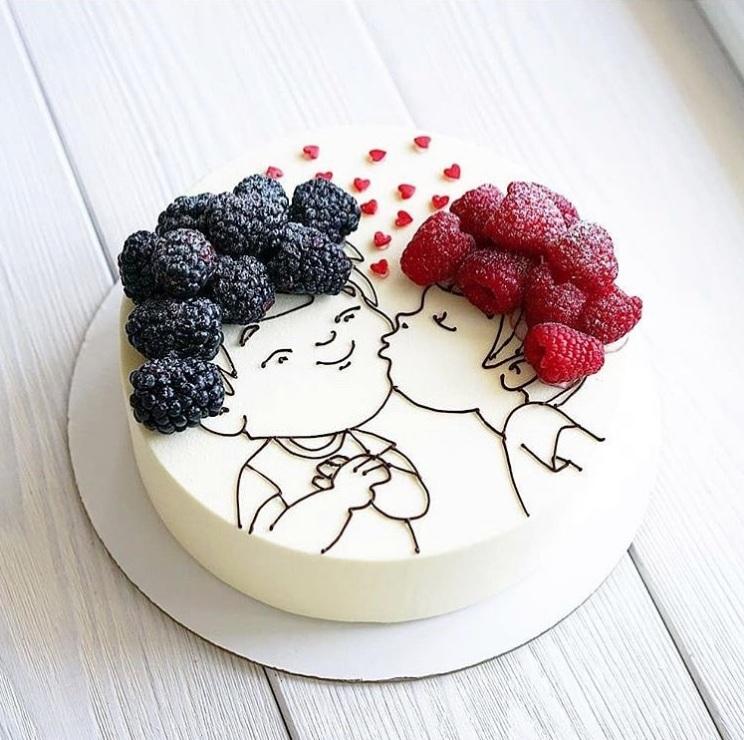 Kreatív torta. / Fotó: instagram.com/p/BircONhnReh/