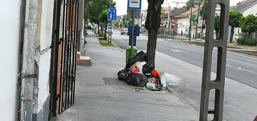 Üllői úti rohadó kommunális hulladék